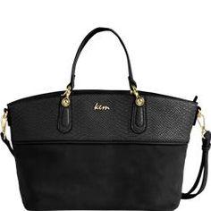 Big size handbag in Snake leather-like material black & miele discover online @ http://goo.gl/q3idhv