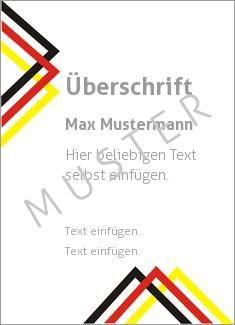 Muster Ehrenurkunde, Vereinsurkunde, Zertifikat, Diplom Rahmen, Schwarz Rot Gold…