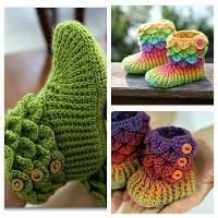 Crocodile Stitch Boots Trio - via @Craftsy