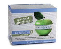 Lactobact METABOLIC - Schonend abnehmen! Ein Kombinationsprodukt mit einer Kapsel aus 7 verschiedenen Bakterienkulturen und einer Kapsel mit dem Ballaststoff Apfelpektin. Zur diätetischen Behandlung von Übergewicht durch eine gestörte Darmflora!