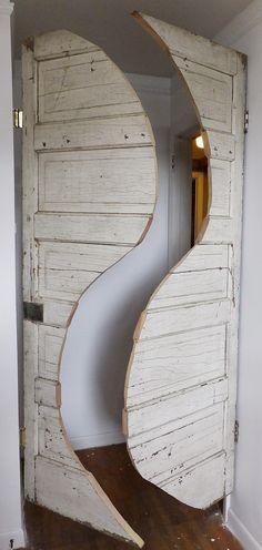 Velvet Cowboy - double swing curvy saloon doors. #DIYassist