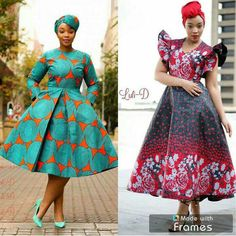 African Fashion Ankara, African Outfits, African Print Dresses, African Attire, African Wear, African Prints, African Dress, Samoan Dress, Shweshwe Dresses