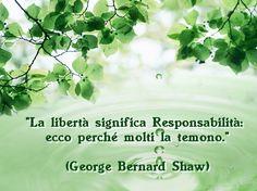 """""""La LIBERTA' significa Responsabilità: ecco perchè molti la temono"""" ~The FREEDOM 'means responsibility: that is why many fear it~"""