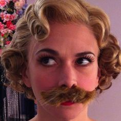 Sutton Foster wearing a mustache! Just when I thought she couldn't get any more amazing!