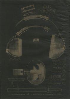 Tuotesuunnittelu Pentti Leskinen: Kuulosuojain luonnos / A draft of hearing protectors  (1968)
