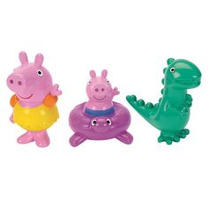 "Peppa Pig Bath Squirters - Peppa, George and Dinosaur - Fisher-Price - Toys ""R"" Us"