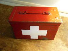 First Aid Box / Ammo Box / Storage / Red Box / Chippy by PIVOT180, $35.00