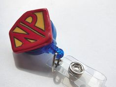 NP Nurse Practitioner Super Power Badge Reel, Retractable ID Clip Men or Women, Graduation Gift for NP, Comic Book Reel
