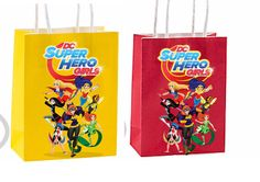Dc superhero girls Party Favor Bag dc superhero girls