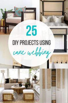 Cane furniture is all the rage right now! See all the possibilities with this list of inspiring DIY Cane Furniture ideas. #canewebbing #DIYcanewebbing #AnikasDIYLife Kreg Jig Projects, Scrap Wood Projects, Woodworking Projects That Sell, Diy Woodworking, Diy Projects, Project Ideas, Cane Furniture, Furniture Projects, Furniture Plans