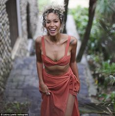 'Island Girl': Singer Leona Lewis, 32, showed off her impeccably toned physique and eye-po...