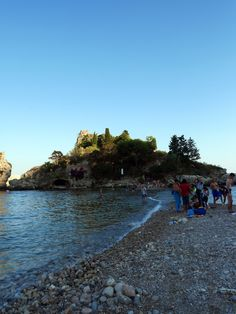 Isola Bella - a quirky tombolo island in Taormina, Sicily, Italy
