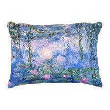 Claude Monet Water Lilies 1919 Accent Pillow