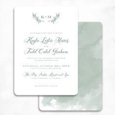 Graceful Greens Wedding Invitations
