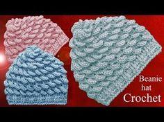 Gorro a Crochet en punto almendras en relieve tejido tallermanualperu - YouTube