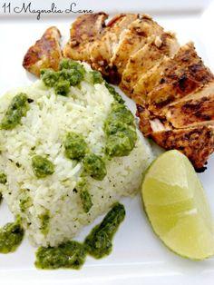 Fajita Chicken with Cilantro & Green Onion Rice |