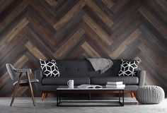 Pallet Wood Wall Planks - Inhabit - Inhabit - 5                                                                                                                                                     More Heim, Wood Wall Paneling, Cheap Interior Wall Paneling, Wood Flooring, Pallet Wood Walls, Interior Walls, Wood Plank Walls, Panelling, Wooden Walls