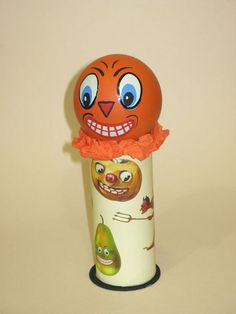handmade reproduction vintage halloween german style candy container ooak on etsy 6000