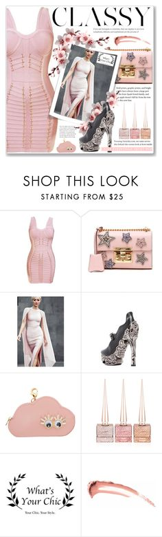 """""""www.whatsyourchic.com"""" by soygabbie ❤ liked on Polyvore featuring Gucci, HADES, Sophie Hulme and Christian Louboutin"""