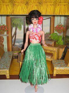 vintage barbie in hawaii