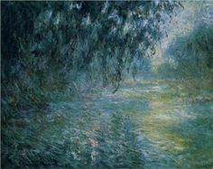 Morning on the Seine in the Rain - Claude Monet, 1897.