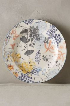 Rosie Side Plate - I love this whole Rosie range of dinnerware. Pottery Painting, Ceramic Painting, Ceramic Art, Painted Ceramics, Ceramic Plates, Ceramic Pottery, Decorative Plates, Pottery Plates, Side Plates