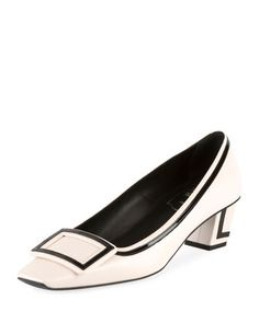 Belle+Vivier+Graphic+45mm+Leather+Pump+by+Roger+Vivier+at+Neiman+Marcus.