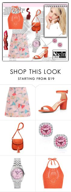 """""""SheIn Contest : WIN SheIn A-line Skirt"""" by malina-husgovic ❤ liked on Polyvore featuring Dorothy Perkins, Kobelli, Rolex, Silvana, New Look, NARS Cosmetics and Neutrogena"""