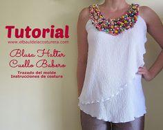 Patrón y tutorial: blusa y cuello babero talla grande