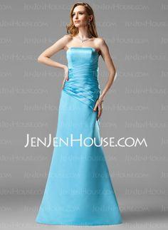 Bridesmaid Dresses - $109.99 - A-Line/Princess Sweetheart Floor-Length Satin Bridesmaid Dresses With Ruffle (007001046) http://jenjenhouse.com/A-line-Princess-Sweetheart-Floor-length-Satin-Bridesmaid-Dresses-With-Ruffle-007001046-g1046