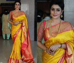 Latest pattu saree blouse designs to try in 2019 blouse patterns for silk sarees Pattu Saree Blouse Designs, Bridal Blouse Designs, Latest Blouse Designs, Designer Saree Blouses, Blouse Back Neck Designs, Latest Pattu Sarees, Jessy James, Wedding Silk Saree, Wedding Blouses