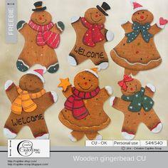 CAJOLINE-SCRAP: Freebie - Wooden gingerbread CU - 2015