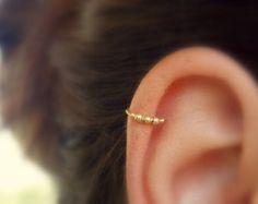 Cartilage piercing hoop turquoise helix piercing tragus jewelry hoop simple base…