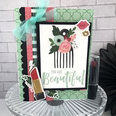 "Card and Gift Card Holder Set by Tya Smith for featuring the ""Salon"" collection Echo Park Paper, Card Holder, Scrapbooking, Cards, Gifts, Collection, Presents, Scrapbooks, Map"