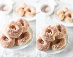 mini-beignes au sucre et cannelle