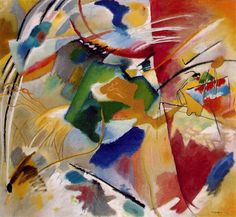 Kandinsky. Painting with green center. 1913. Chicago.