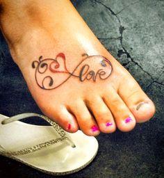 Unendlichkeit Tattoo, Liebe, Fuß – foot tattoos for women Infinity Tattoo Family, Infinity Tattoo Designs, Infinity Tattoos, Infinity Symbol, Bild Tattoos, Neue Tattoos, Body Art Tattoos, Foot Tatoos, Small Tattoos