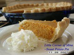 Little Corner of Mine: Sweet Potato Pie