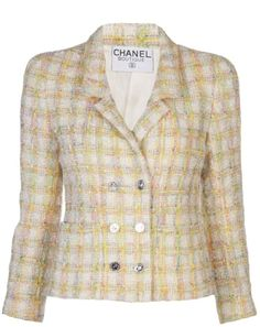 Chanel 1990s bouclé blazer on shopstyle.com