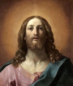 ROSTRO DE JESÚS POR GUIDO RENI. notice the use of light in this painting.