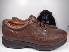 28431ac0456bf MENS CLARKS ALLSTON EDGE BROWN LEATHER LACE UP CASUAL SHOES SZ 11W WIDE  889304033415   eBay