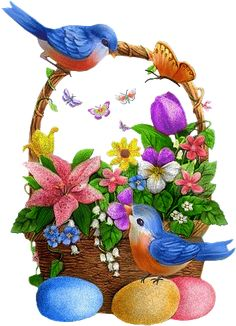 Happy Easter Gif, Happy Easter Photos, Happy Easter Greetings, Easter Wishes, Easter Wallpaper, Fairy Wallpaper, Easter Bunny Pictures, Easter Paintings, Easter Art