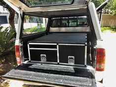 DIY Hilux DC Drawer System - 2015 Builders Warehouse, Truck Bed Storage, Aluminium Cladding, Diy Drawers, Camper Conversion, Van Camping, Fj Cruiser, Ford Ranger, Canopy