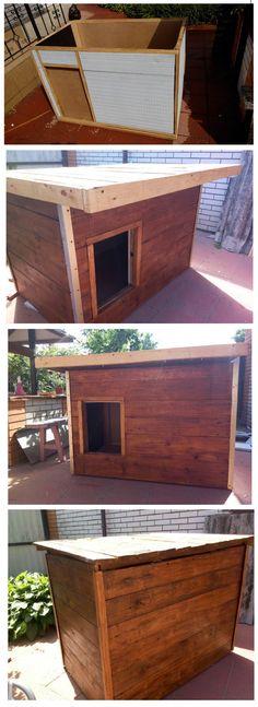 СВОИМИ РУКАМИ - БУДКА ДЛЯ СОБАКИ. Dog house designs for big dogs.