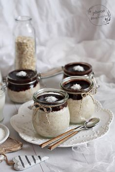 Diet Recipes, Healthy Recipes, Sweet Life, Panna Cotta, Breakfast Recipes, Oatmeal, Food And Drink, Gluten, Dolce Vita