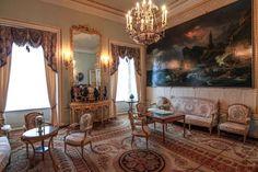 Grand Palais - Intérieur - Pavlovsk - Rez de Chaussée - L'ancienne Salle de Dessin - Réalisée par Carlo Rossi en 1824.