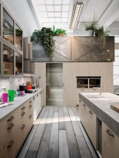 Kompakte Wohnküche Snaidero Design Herausstehendes Board Very Nice Idea For  Compact, Small Places. | Kitchens | Pinterest | Kellerumbau, Nizza Und Orte