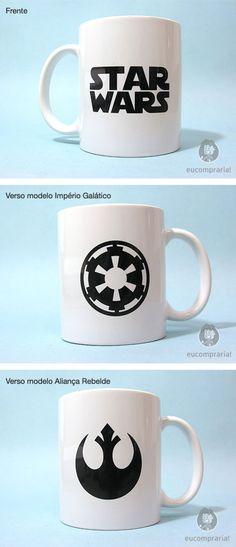 Caneca Senhor dos Anéis - Império Galático e Aliança Rebelde http://eucompraria.com.br/produto/caneca-star-wars R$22