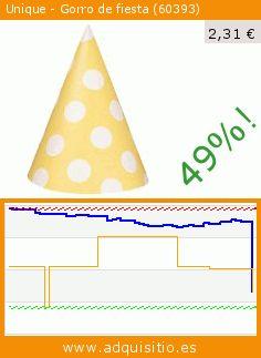 Unique - Gorro de fiesta (60393) (Juguete). Baja 49%! Precio actual 2,31 €, el precio anterior fue de 4,49 €. https://www.adquisitio.es/unique/gorro-fiesta-60393