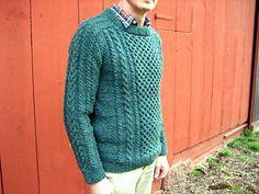 """Dreams of Aran"" men's cabled sweater"